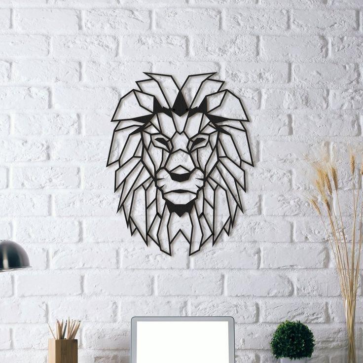 (Yeni) Metal Plaka - Lion Head