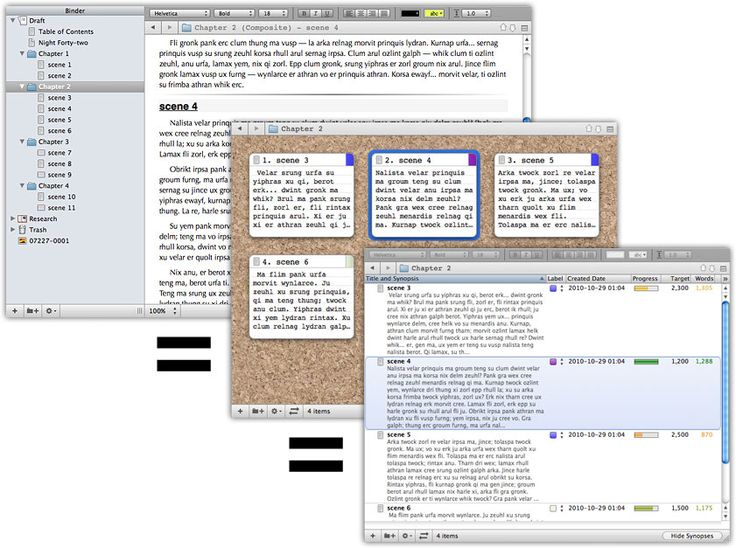 Literature and Latte - Scrivener for Mac. really really awesome app!
