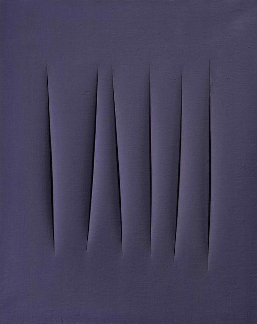 mentaltimetraveller:Lucio Fontana, Concetto spaziale, 1965