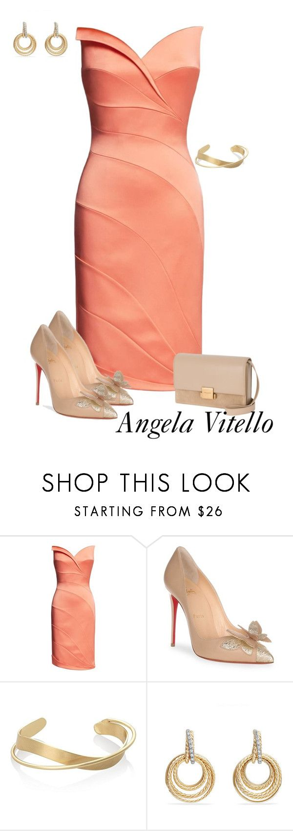 """Untitled #1026"" by angela-vitello on Polyvore featuring Christian Louboutin, David Yurman and Yves Saint Laurent"