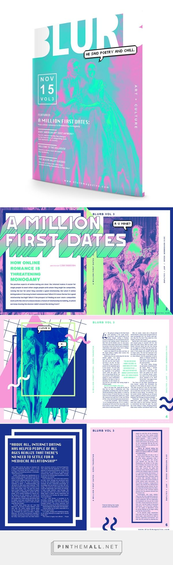 """A Million First Dates"" Editorial Spread on Behance... - a grouped images picture - Pin Them All"