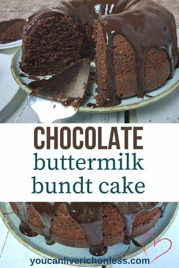 Chocolate Buttermilk Bundt Cake Recipe Buttermilk Chocolate Cake Cakes Made With Buttermilk Buttermilk Recipes