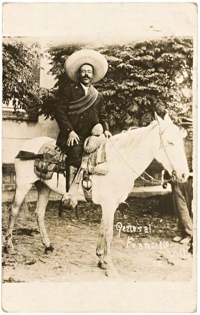 "This postcard of Pancho Villa, known as ""el centauro del norte"" or centaur of the north, was widely circulated during his rise to fame. 1912"