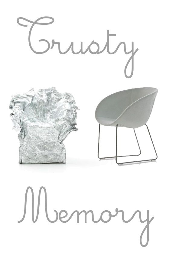 """Trust your Memory - """"Soft Touch"""" #shell produced via a process of rotomoulding in #polyester with flexible internal mass in #polyurethane.  http://bit.ly/1BZGGpU #chair #design #home #style"""