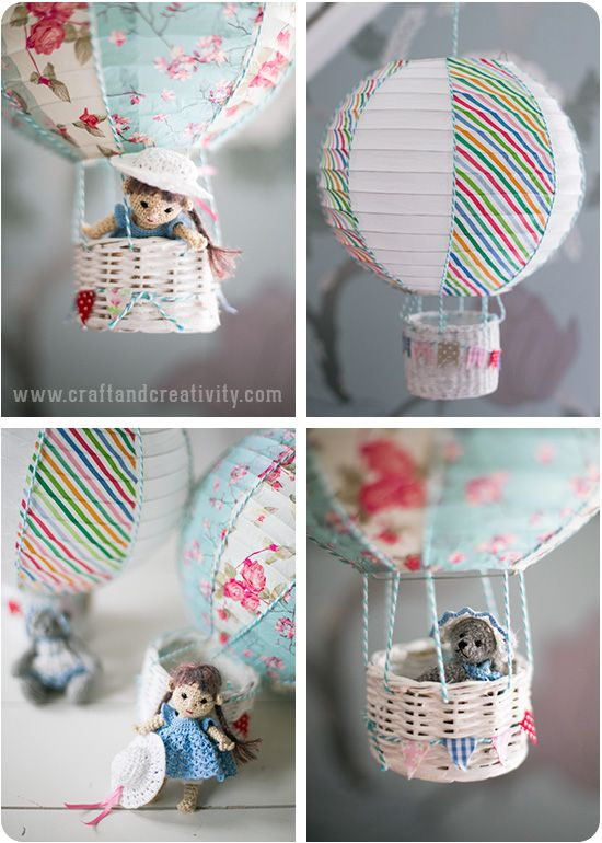 Rislampa blir luftballong – Paper lantern turned into hot air balloon