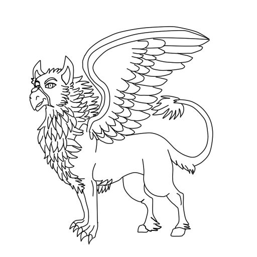 coloring pages buckbeak - photo#13