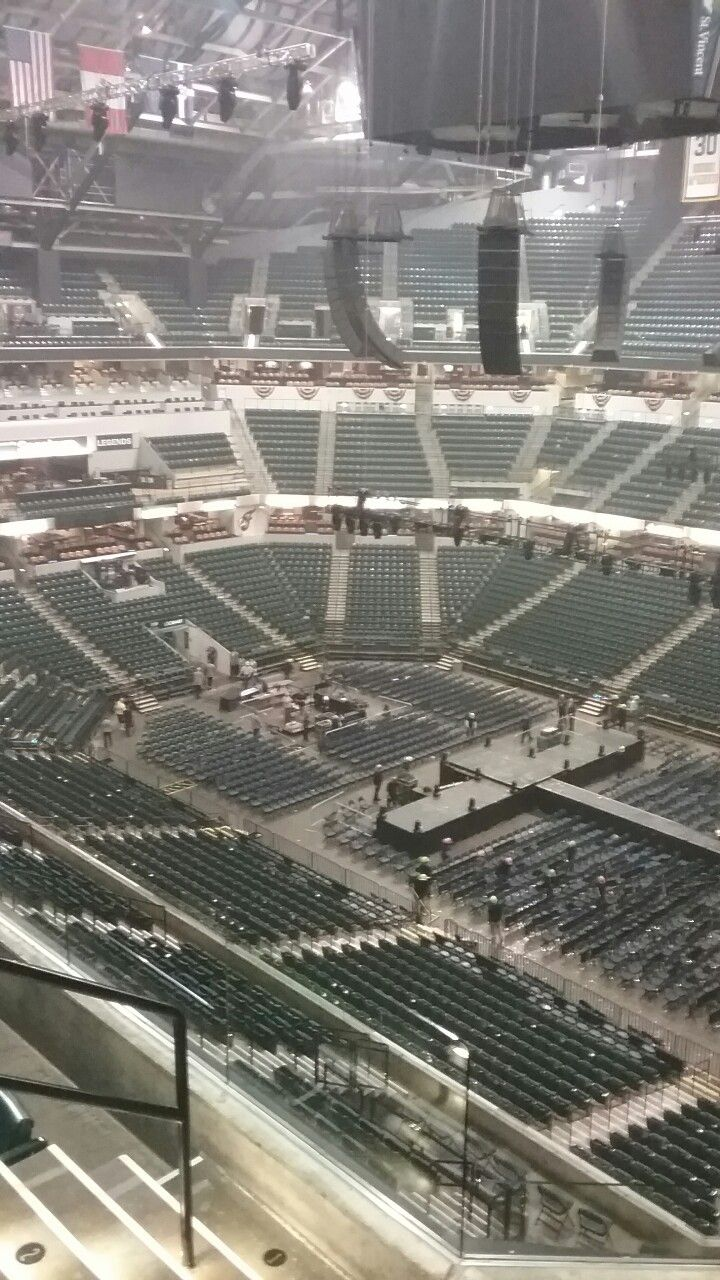 The empty stadium. Bankers Life Fieldhouse seats 11,000