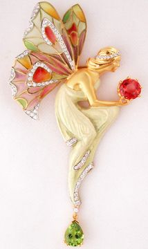 Masriera #Fairy pendant brooch, love this jewelry design house.
