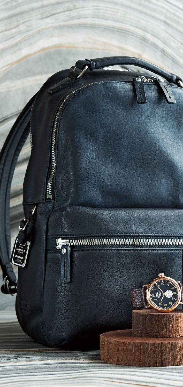 Shinola Leather Backpack
