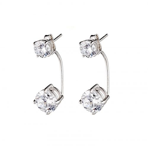SUSPENSION SOLITAIRE CONVERTIBLE EARRINGS from Fallon