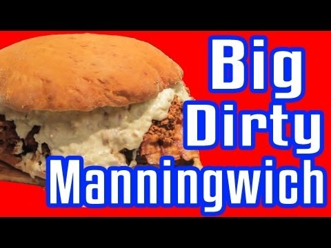 Big Dirty Manningwich - Epic Meal Time looks like more superbowl food...LOL funnnnnyyyyyy