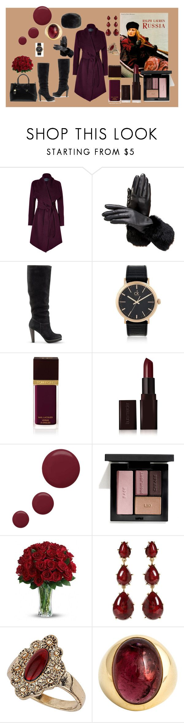 """Winter Wine"" by modernlady ❤ liked on Polyvore featuring Donna Karan, Aspinal of London, Cole Haan, Lauren Ralph Lauren, Calvin Klein, Ralph Lauren, Tom Ford, Laura Mercier, Topshop and Victoria's Secret"