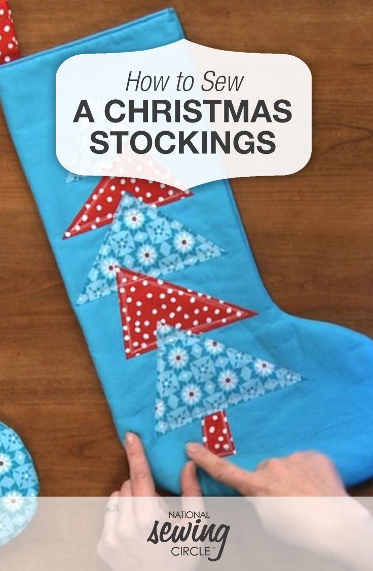 How to sew a christmas decoration - How To Make A Christmas Stocking Sewing Video
