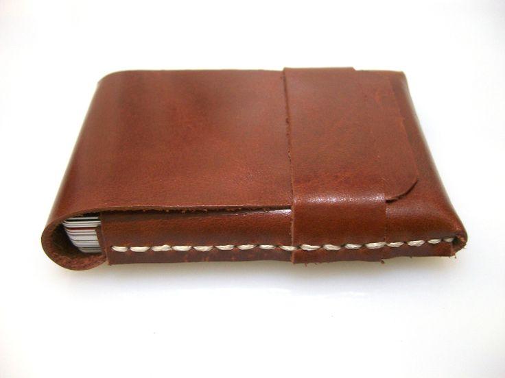 Leather Wallet-Men Wallet-Leather Card Holder-Saddle  Brown-Free Monogramming. $25.00, via Etsy.