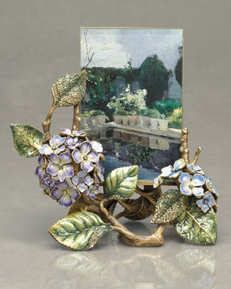 """Kate"" 4"" x 6"" Hydrangea Base Frame by Jay Strongwater at Neiman Marcus."