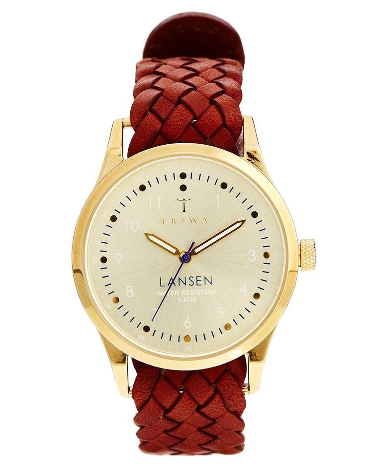 Triwa Gold Lansen Brown Braided Watch