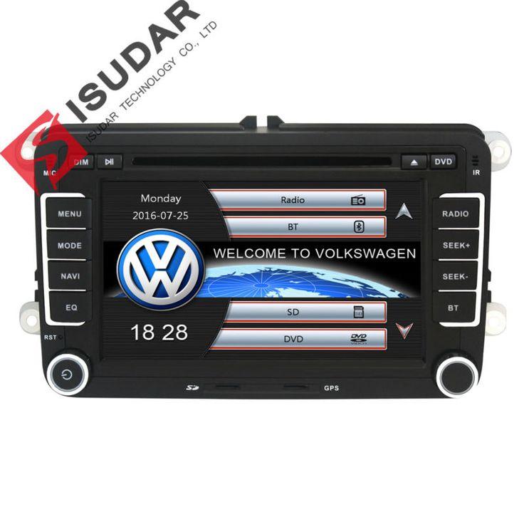 اثنان الدين 7 بوصة سيارة مشغل dvd ل vw/فولكس/بولو/باسات/جولف/سكودا/مقعد مع wifi 3 جرام المضيف راديو gps bt 1080 وعاء بود rds خريطة