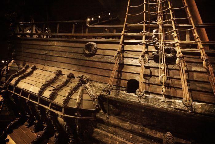 Details of Vasa Ship, Stockholm