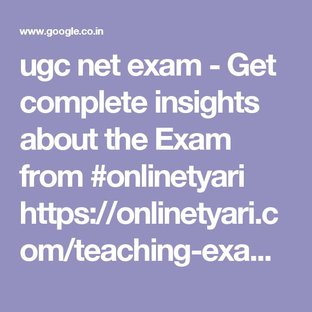 ugc net exam - Get complete insights about the Exam from #onlinetyari https://onlinetyari.com/teaching-exams/cbse-ugc-net-exam-i93.html