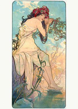 Nouveau Summer Season by Alphonse Mucha Fine Art Print