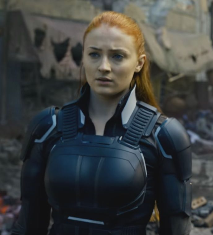 Sophie Turner as Jean Grey in the latest X-Men Apocalypse trailer