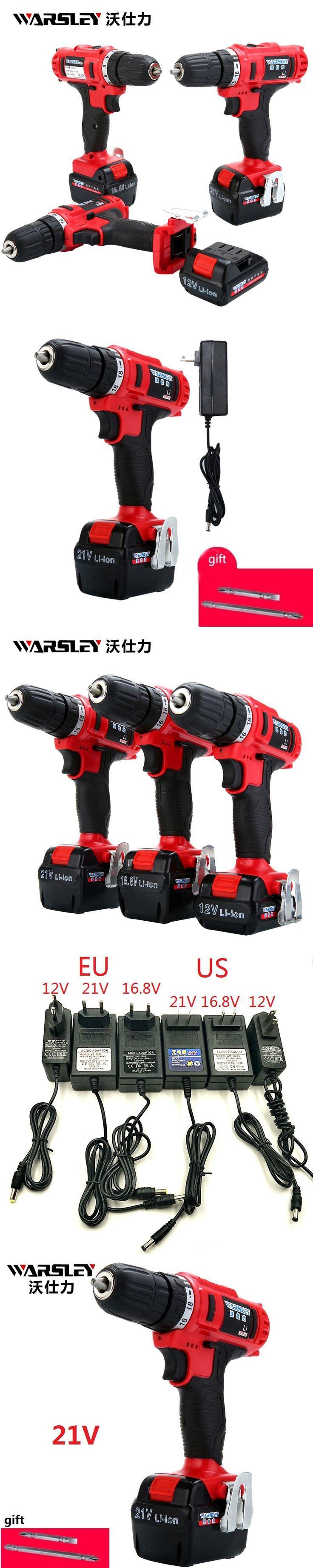 21v Electric screwdriver battery Electric Cordless Drill power tools Like  perceuse sans fil Electric Tools Mini Drill