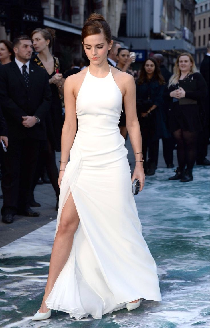 Emma Watson: Showing some leg...