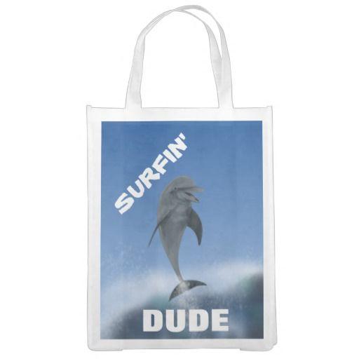 Surfin'  Dude Reusable Bag : Grayson Art