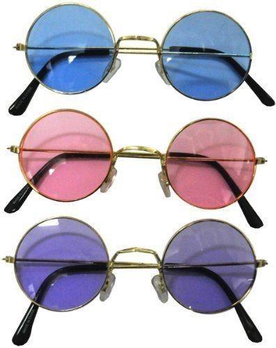 NEW John Lennon Blue Pink Sunglasses Shades 60's Hippy Party Beach Beatles Love