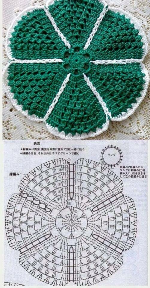 CROCHET CIRCULAR FLOWER Center FLOWER GRANNY SQUARE CIRCLE WITH DIAGRAM (Chinese) #3 | Just a Photo Post but all that is needed is shown and Self-Explanatory! | ~~ https://www.pinterest.com/bonniebuchanan ~~