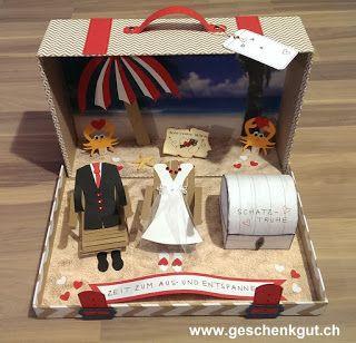 Hochzeit Geldgeschenk Koffer Hochzeitsreise Flitterwochen