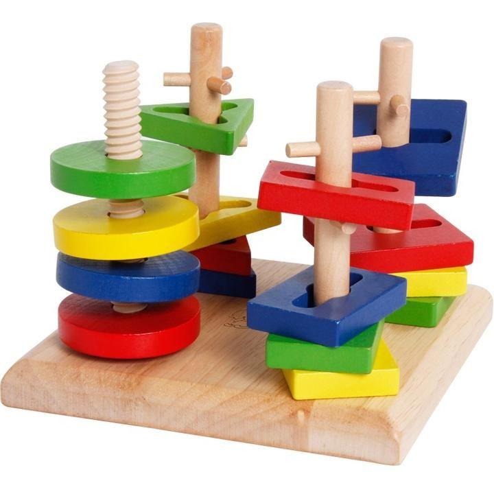 Corkscrew Wooden Puzzle Montessori Toys Educational Toys For
