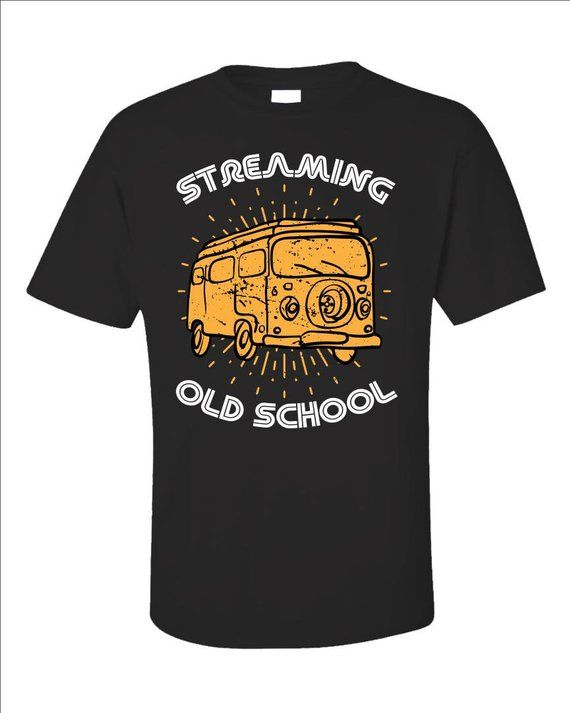 Streaming Old School Airstream Glamping Camping Unisex T Shirt