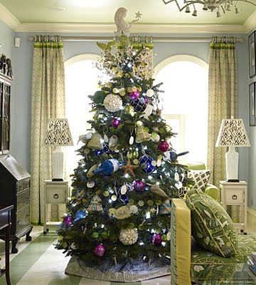 beach Christmas tree,20 Charming Coastal Christmas Trees | Beach Baubles | CoastalLiving.com