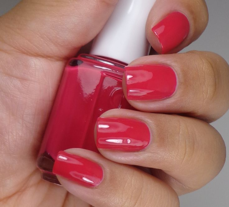 Essie:  ★Haute In The Heat ★  red creme nail polish, from the Haute In The Heat Collection for Summer 2014