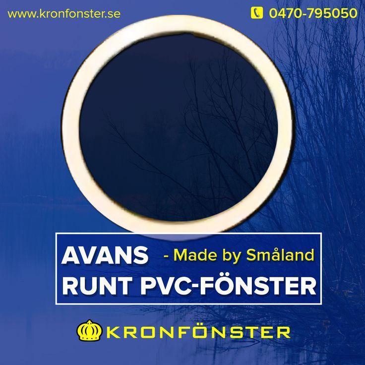 Runt fast fönster från Kronfönster - Made by Småland  Avans: Runt fast PVC-fönster, 58 cm i diameter  Läs mer » https://goo.gl/ALtJcF  #Runtfönster #Avans #Aluminiumfönster #Specialfönster #Kronfönster