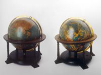 Gerard Mercator: terrestrial and celestial globe, 1541