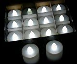 Lot 100 Battery LED White Flickering Flame Tea Light Candle WHOLESALE