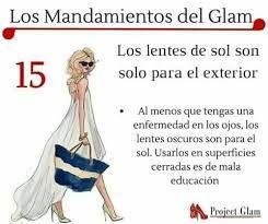 Resultado de imagen de los mandamientos del glam
