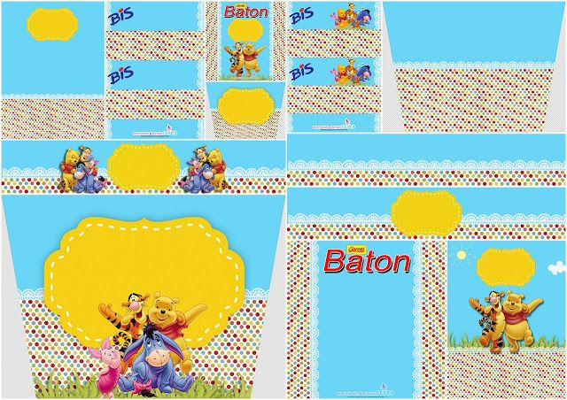 Winnie the Pooh Party: Free Printable Candy Bar Labels. | Oh My Baby!