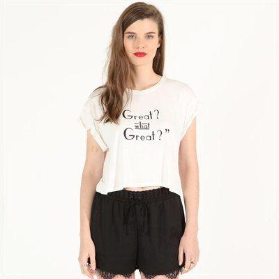 Pimkie.es : Nos vuelve locas el estilo art déco de esta camiseta crop.