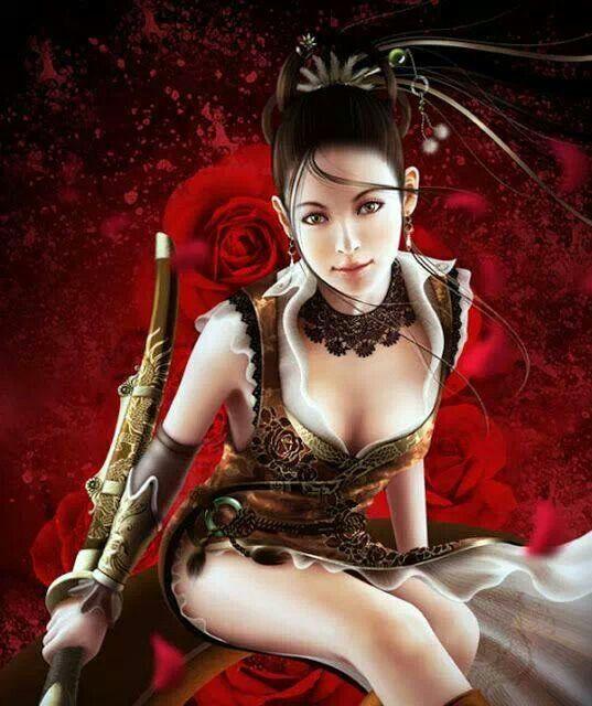 Asian Girl Fantasy Art Sjf Art Pinterest Girls And