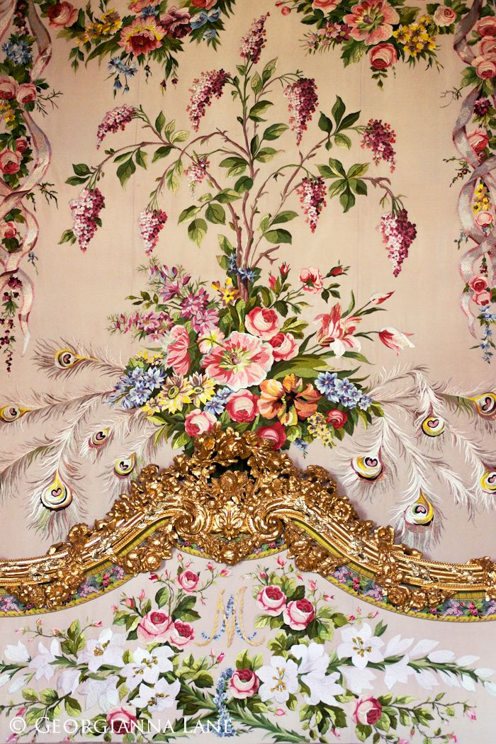 Tapestry, Marie Antoinette's bed at Versailles Palace