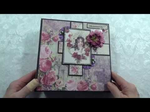 "Prima ""Tales of You & Me"" Chipboard Scrapbook Photo Album 8"" x 8"" - YouTube"