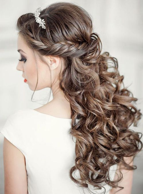 Stupendous 1000 Ideas About Curly Wedding Hairstyles On Pinterest Wedding Hairstyles For Women Draintrainus