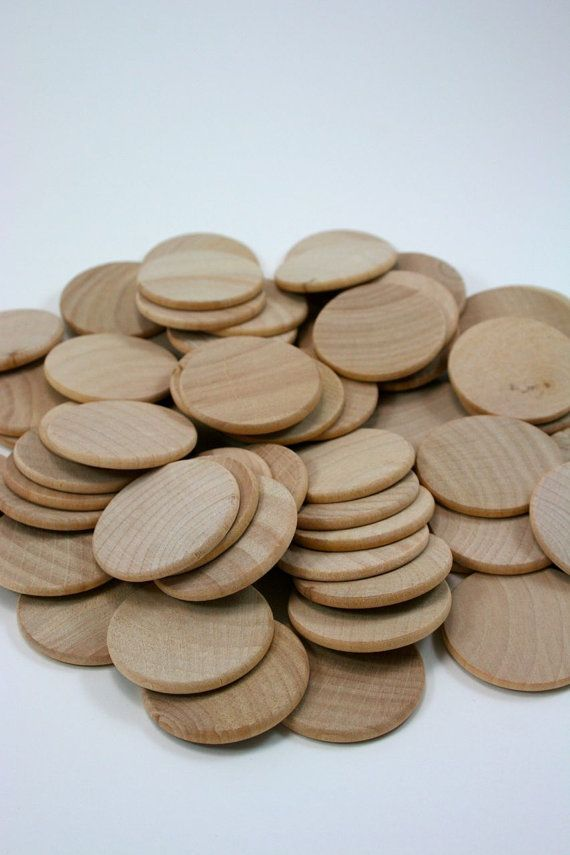 Unfinished Wood Discs Coins Circles