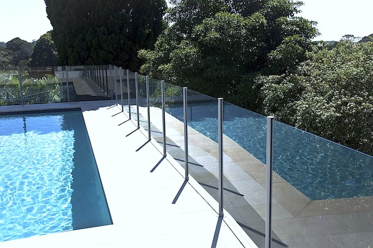 Semi Frameless Glass Pool Fencing The sophistication and style of a frameless glass pool fence but on a budget. The posts are manufactured from high grade aluminium and powdercoated right here in Australia. All glass is 8mm clear toughened. Gate hardware is high polished 316 grade stainless steel. All components are manufactured to the relevant Australian Standards and come with full manufacturers warranties.
