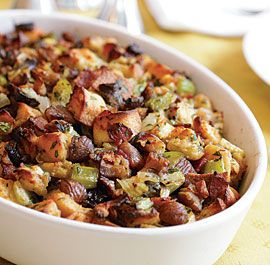 Herbed Bread Dressing with Bacon, Chestnuts & Prunes