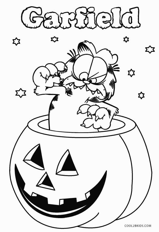 Garfield Halloween Coloring Pages Halloween Coloring Pages Printable Christmas Coloring Books Halloween Coloring Pages