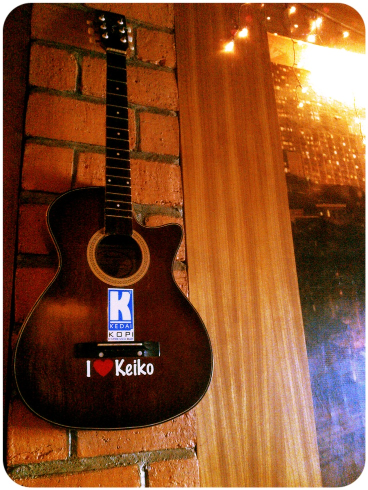 Classic Guitar at 2nd floor Kedai Kopi Espresso Bar Surabaya.